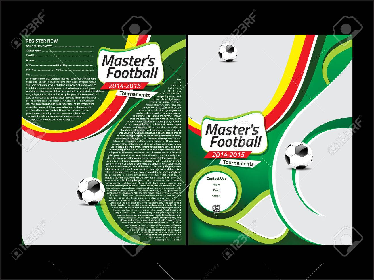 Football Flyer Template Vector Illustration Royalty Free Cliparts