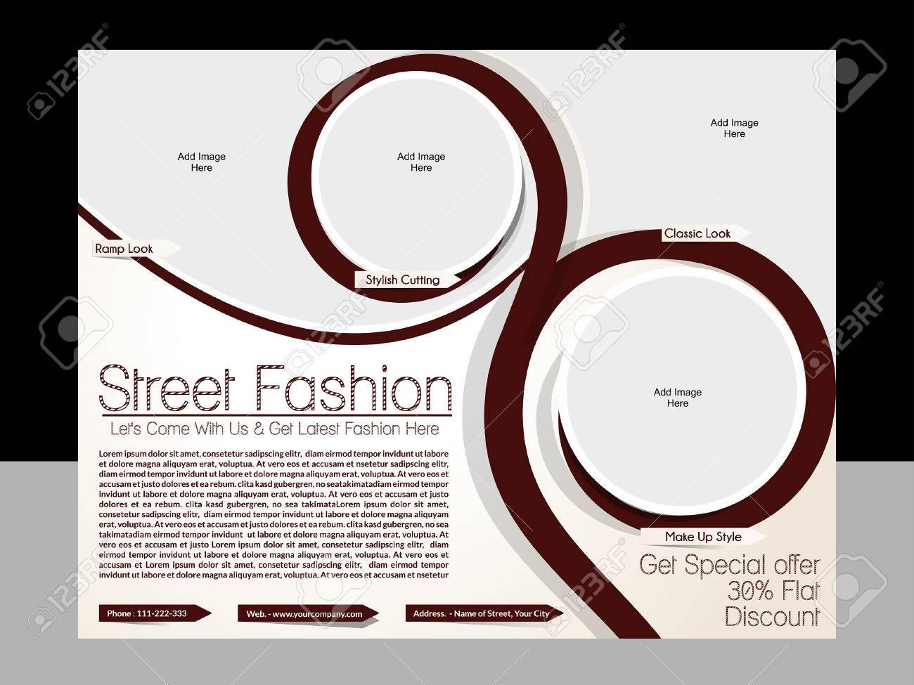 Street Fashion Flyer Template Vector Illustration Royalty Free ...