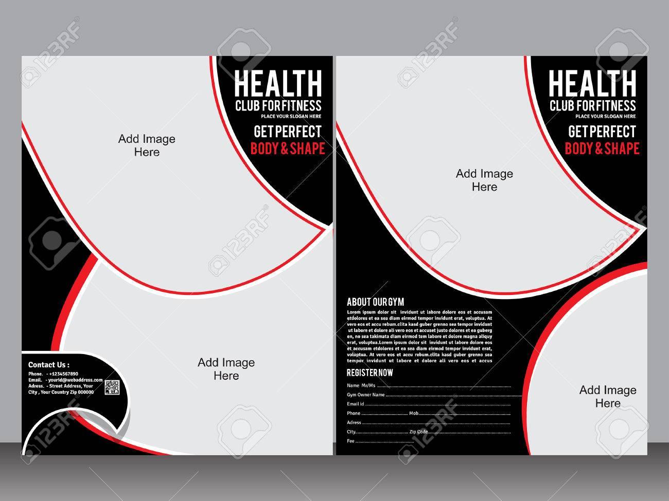 gym designer flyer template vector illustration royalty free