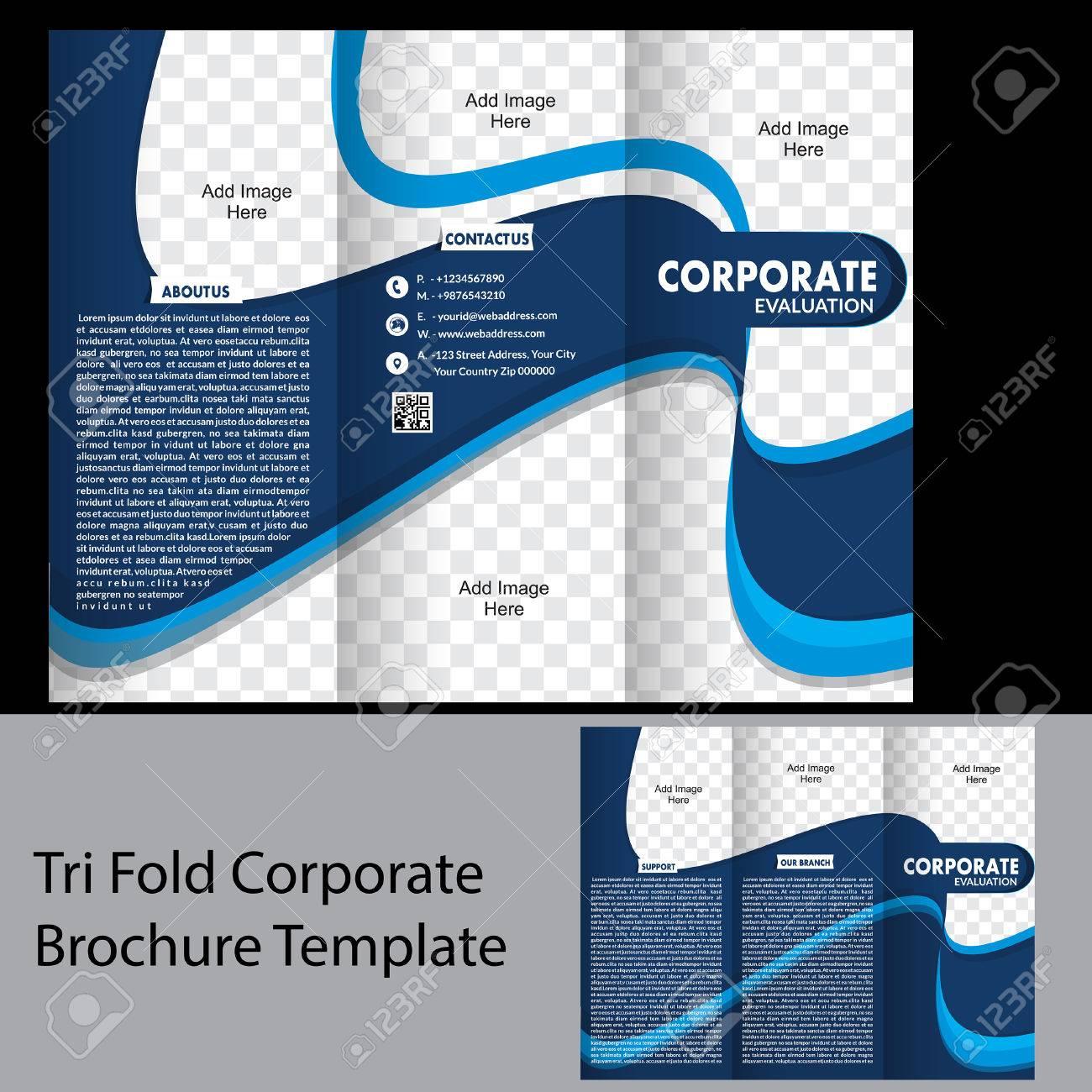 Tri Fold Corporate Brochure Template Vetor Illutsration Royalty Free ...