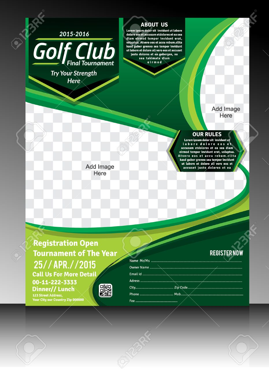 golf flyer template illustration stock vector 32561162