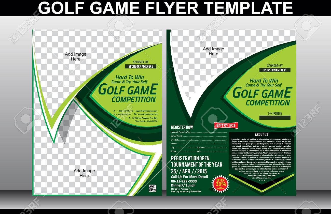 Golf Tournament Flyer Templates Elioleracom 34128930 Golf Game Flyer And  Magazine Cover Template Vector Illustration Stock