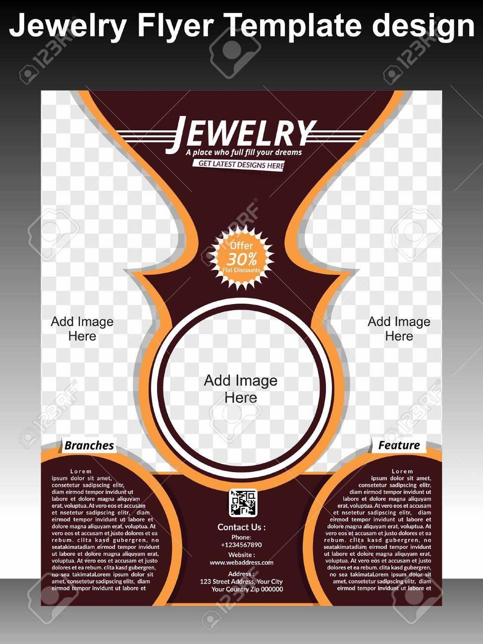 Banque dimages , Bijoux Flyer Template Design illustration vectorielle