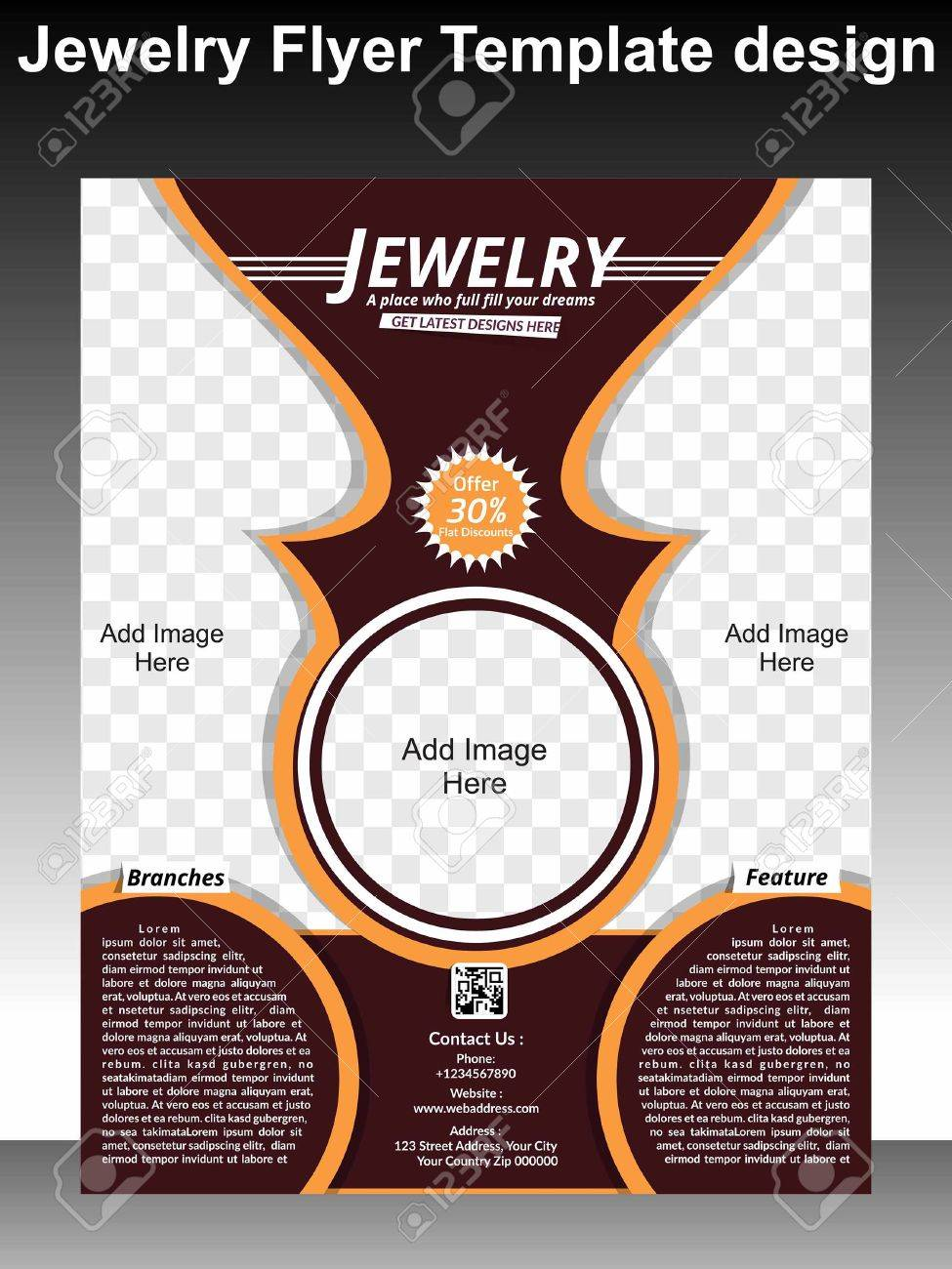 Jewelry Flyer Template Design Vector Illustration