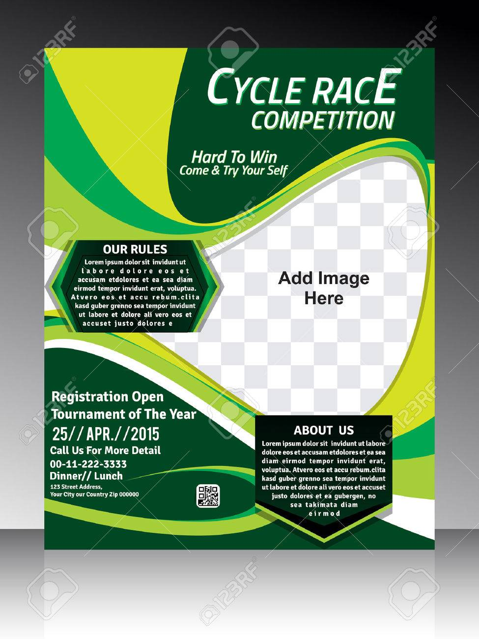 Cycle Race Flyer Template Design Vector Illustration Royalty Free – Lunch Flyer Template