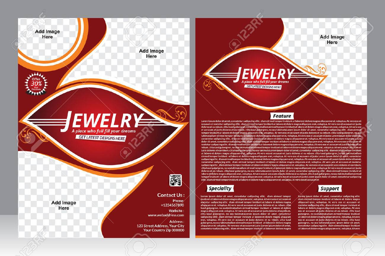 jewelry design flyer design template vector illustration royalty