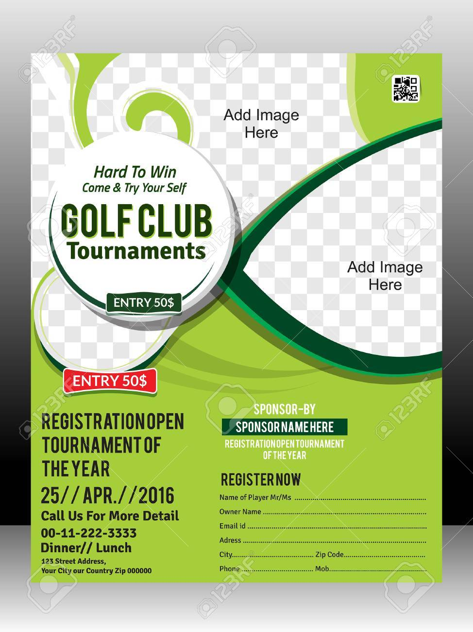 golf tournament flyer template design illustration royalty free