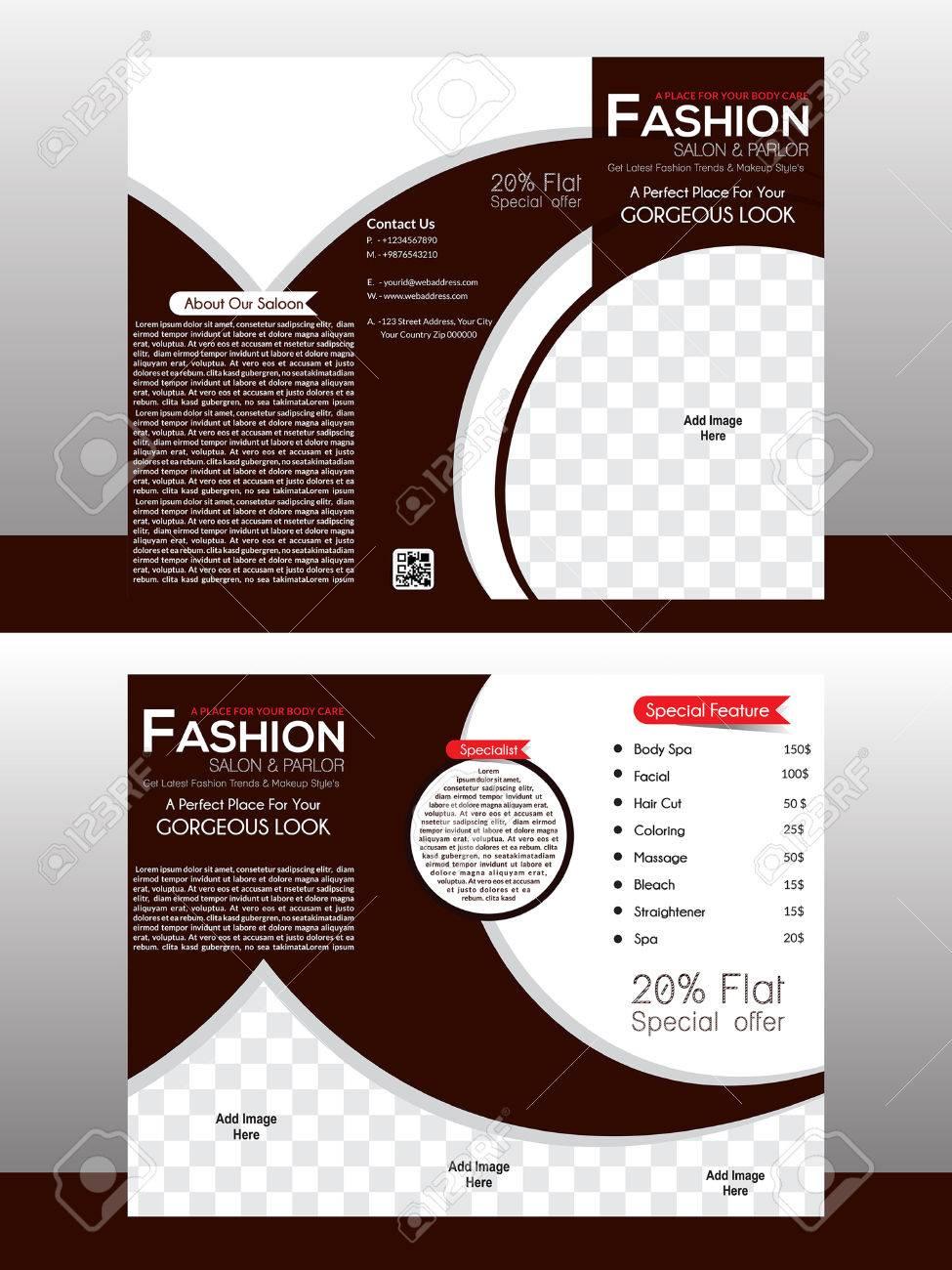 tri fold fashion brochure template design illustration stock vector 58806722 - Fashion Brochure Template