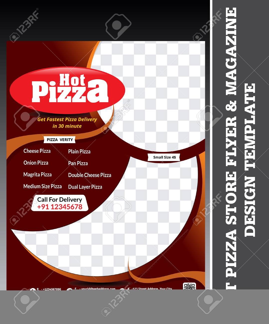 Ilustración De Vector De Plantilla De Diseño De Flyer Y Revista De ...