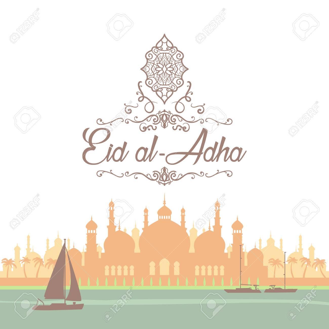 Eid greetings in arabic script an islamic greeting card for eid greetings in arabic script an islamic greeting card for eid al adha stock m4hsunfo
