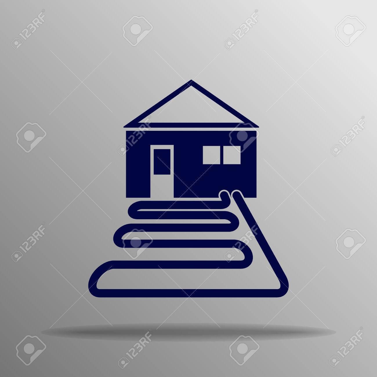 heat pump blue on a gray background - 57826235