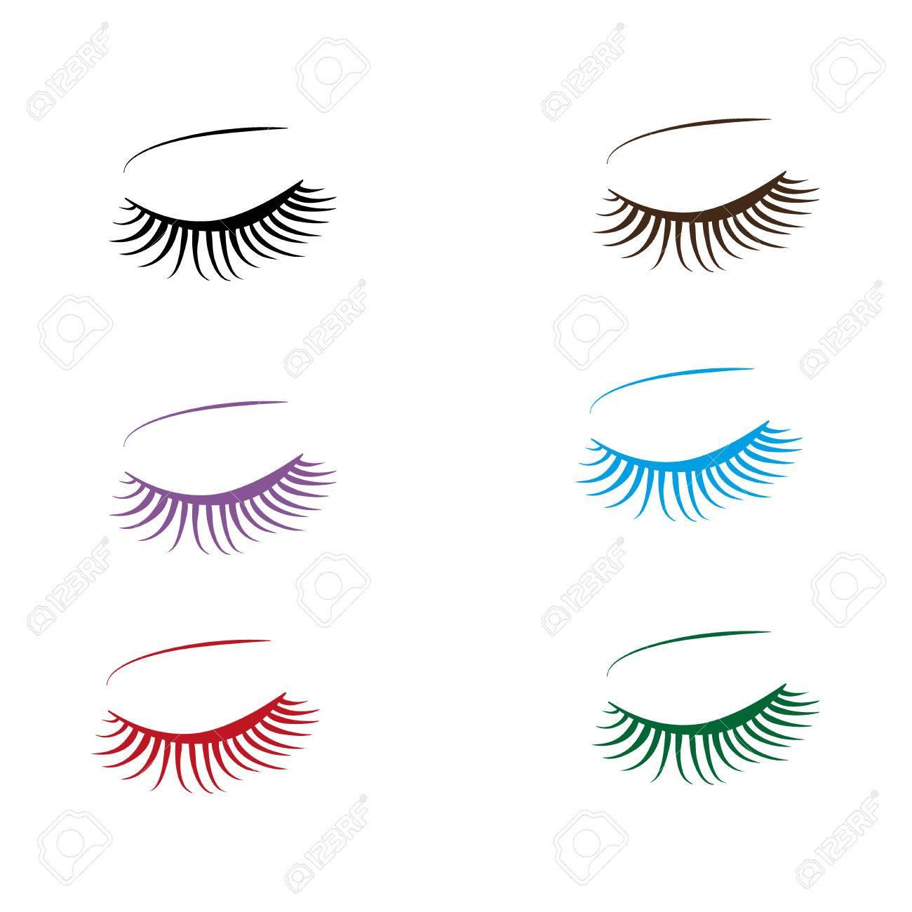 colorful Eyelashes and eyebrows - 58679794