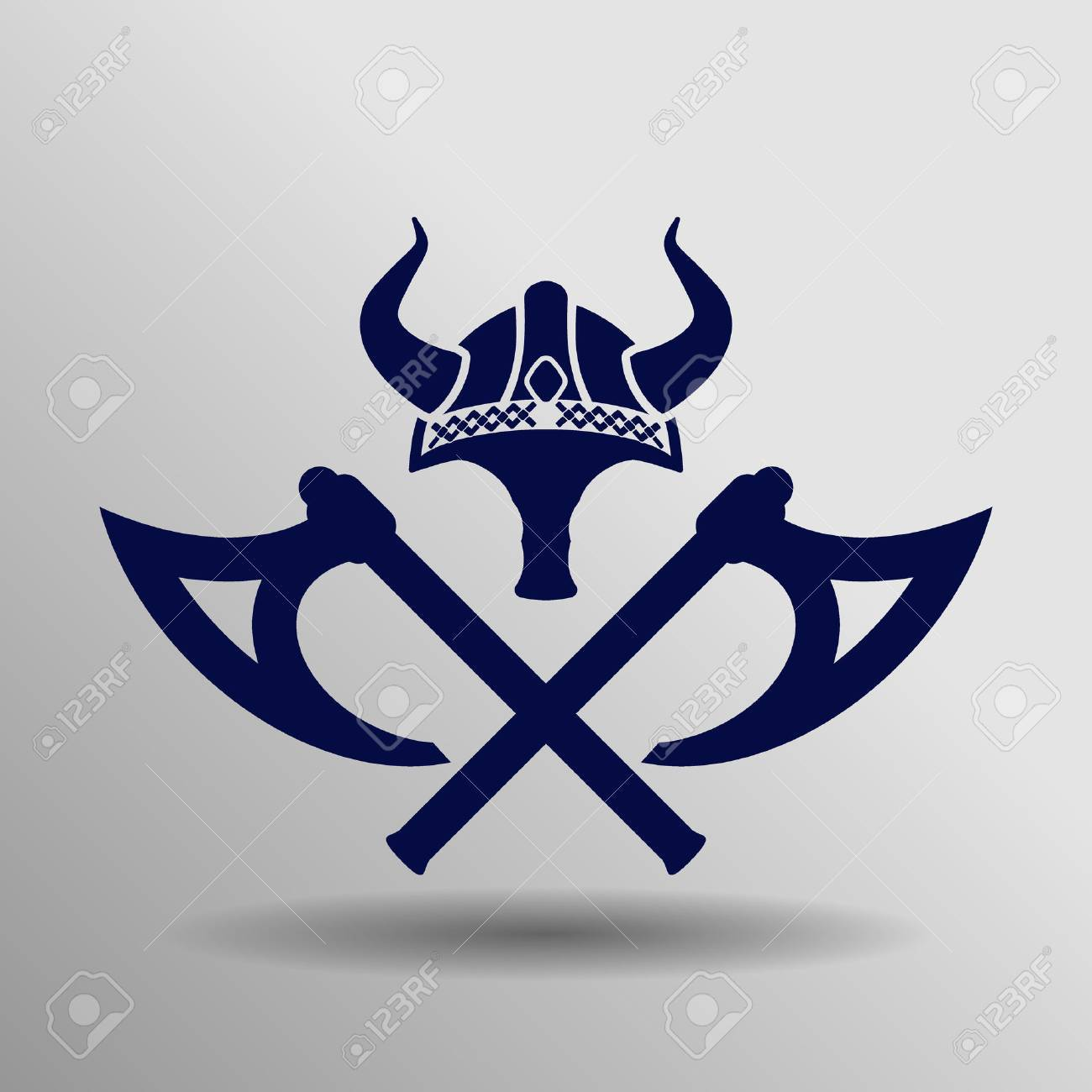 blue viking Icon button symbol concept high quality on the gray background - 60263914
