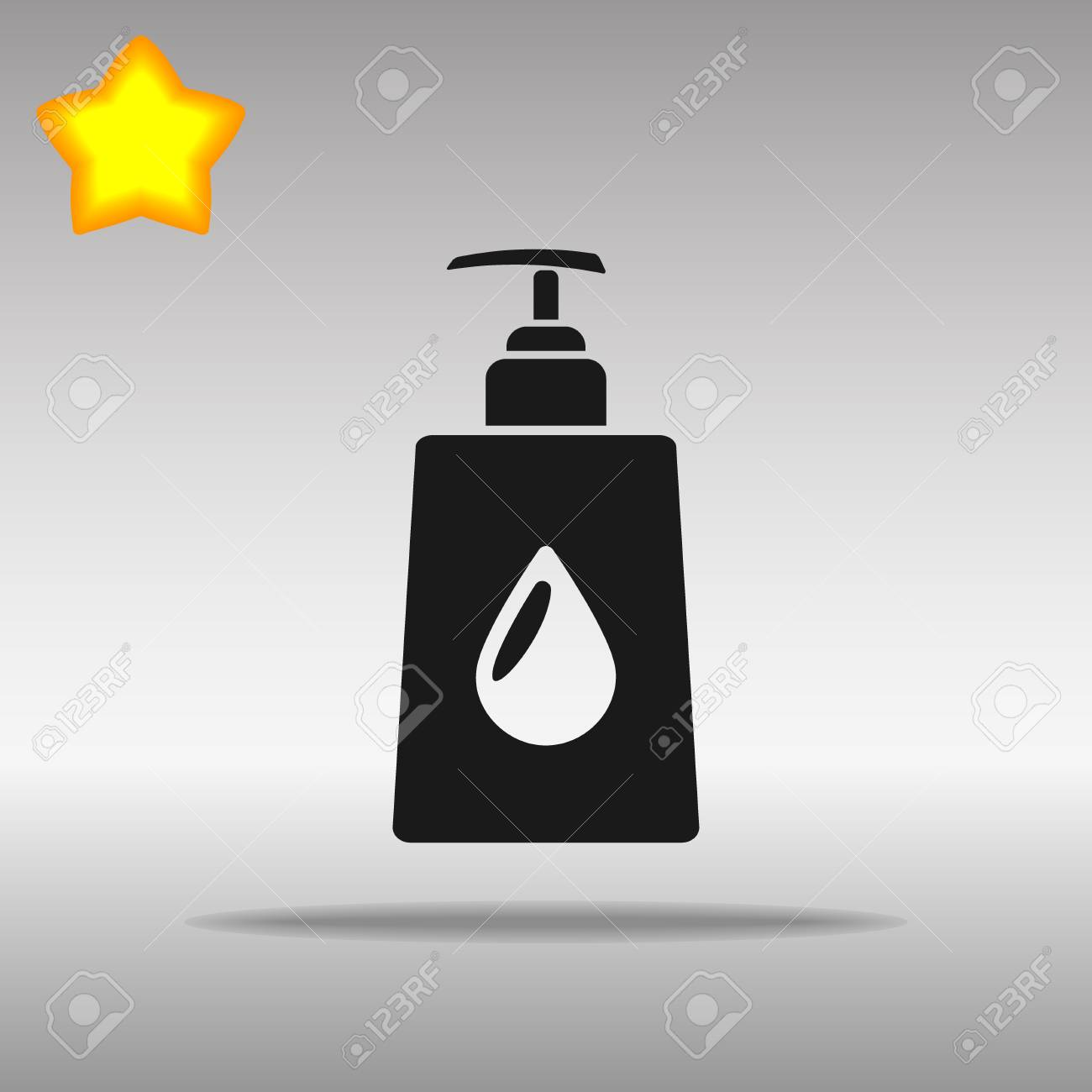 liquid soap black Icon button logo symbol concept high quality on the gray background - 79142253