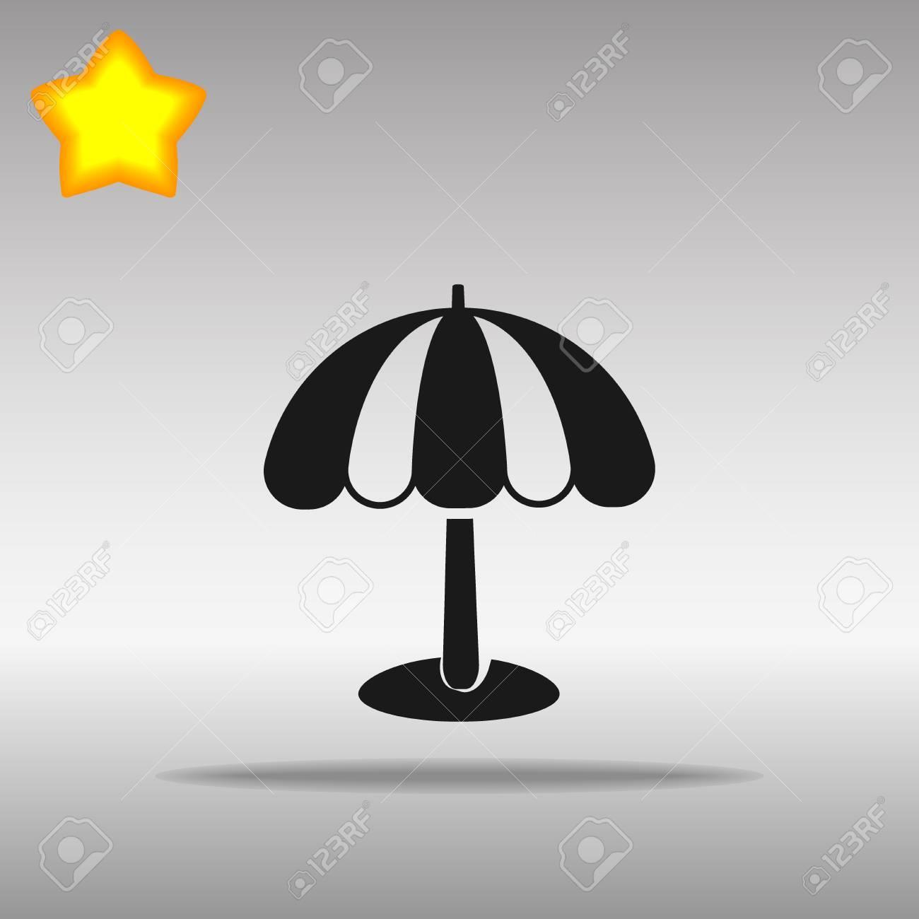 Beach umbrella black Icon button logo symbol concept high quality on the gray background - 82176370