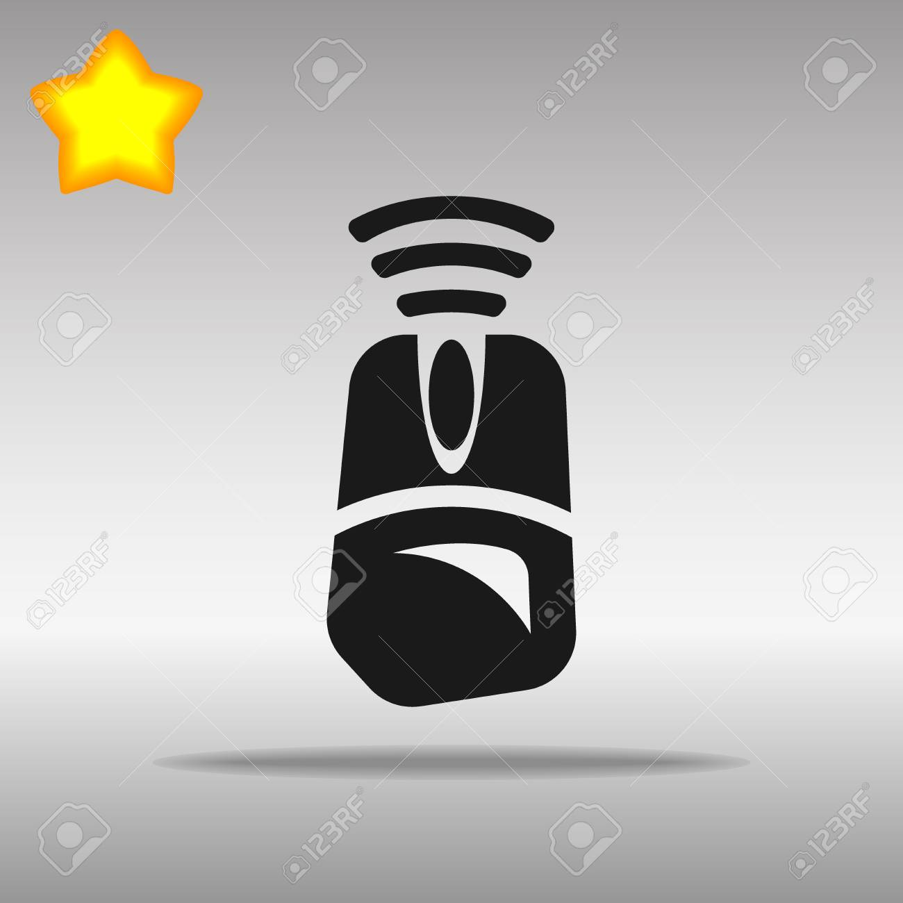 Computer mouse Wi fi black Icon button logo symbol concept high quality on the gray background - 82176375