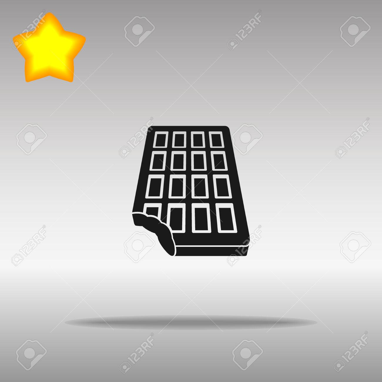 chocolate black Icon button logo symbol concept high quality on the gray background - 82176379
