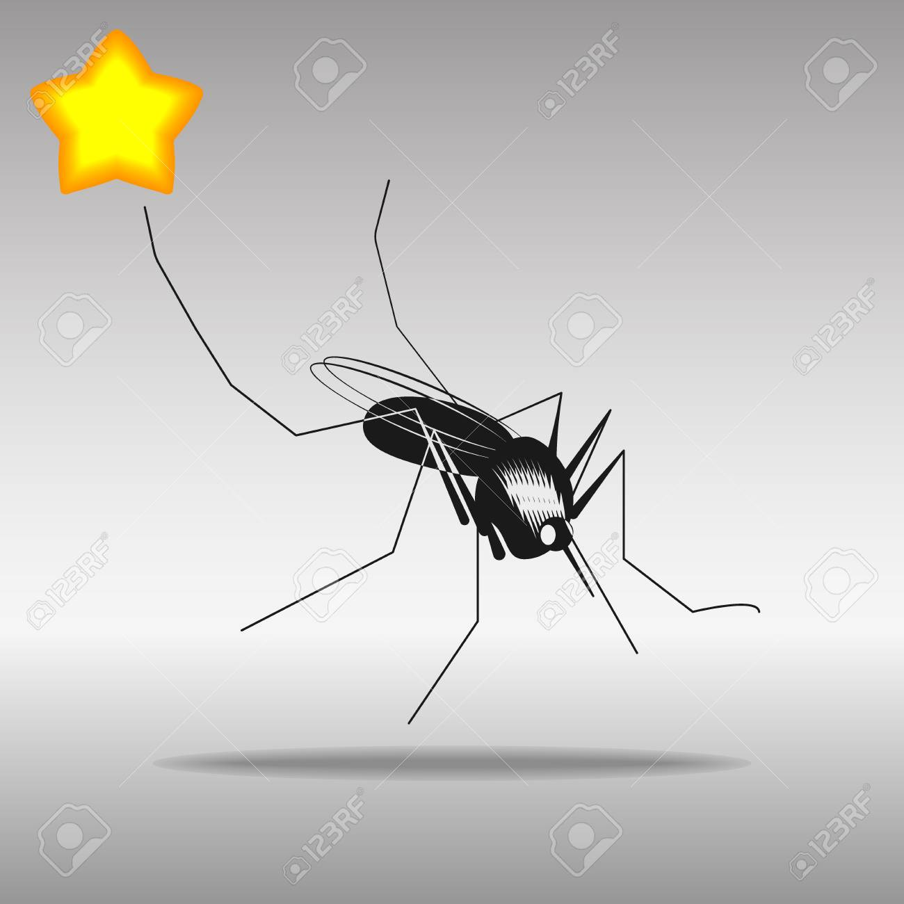 mosquito black Icon button logo symbol concept high quality on the gray background - 82176385