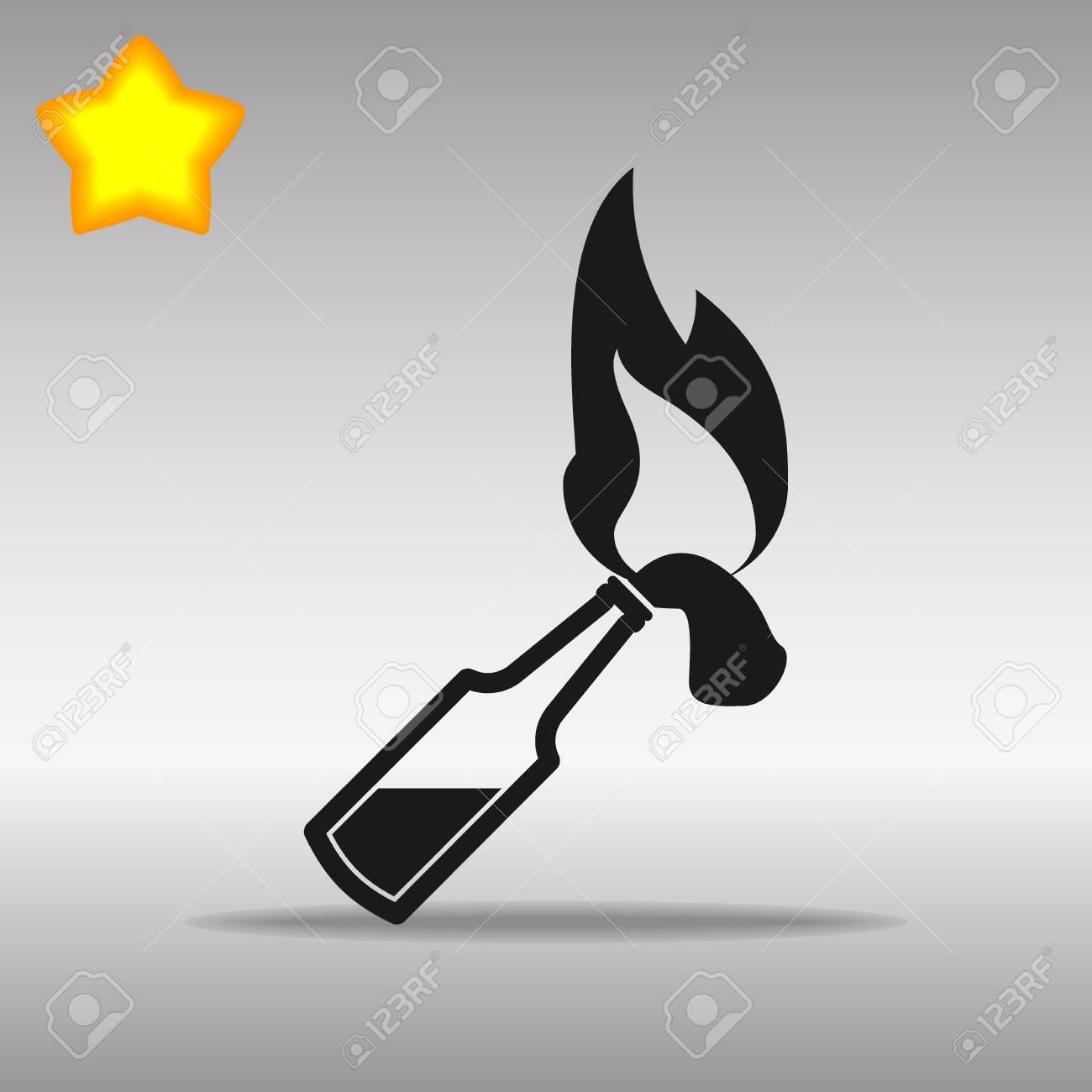 Molotov black Icon button logo symbol concept high quality on the gray background - 82176419