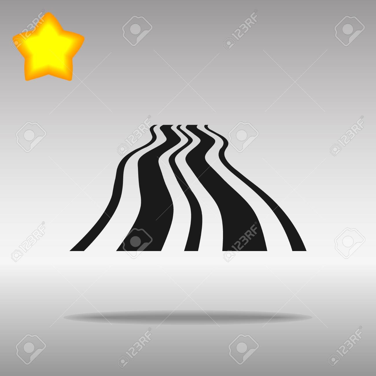 black Road Icon button logo symbol concept high quality on the gray background - 82176422