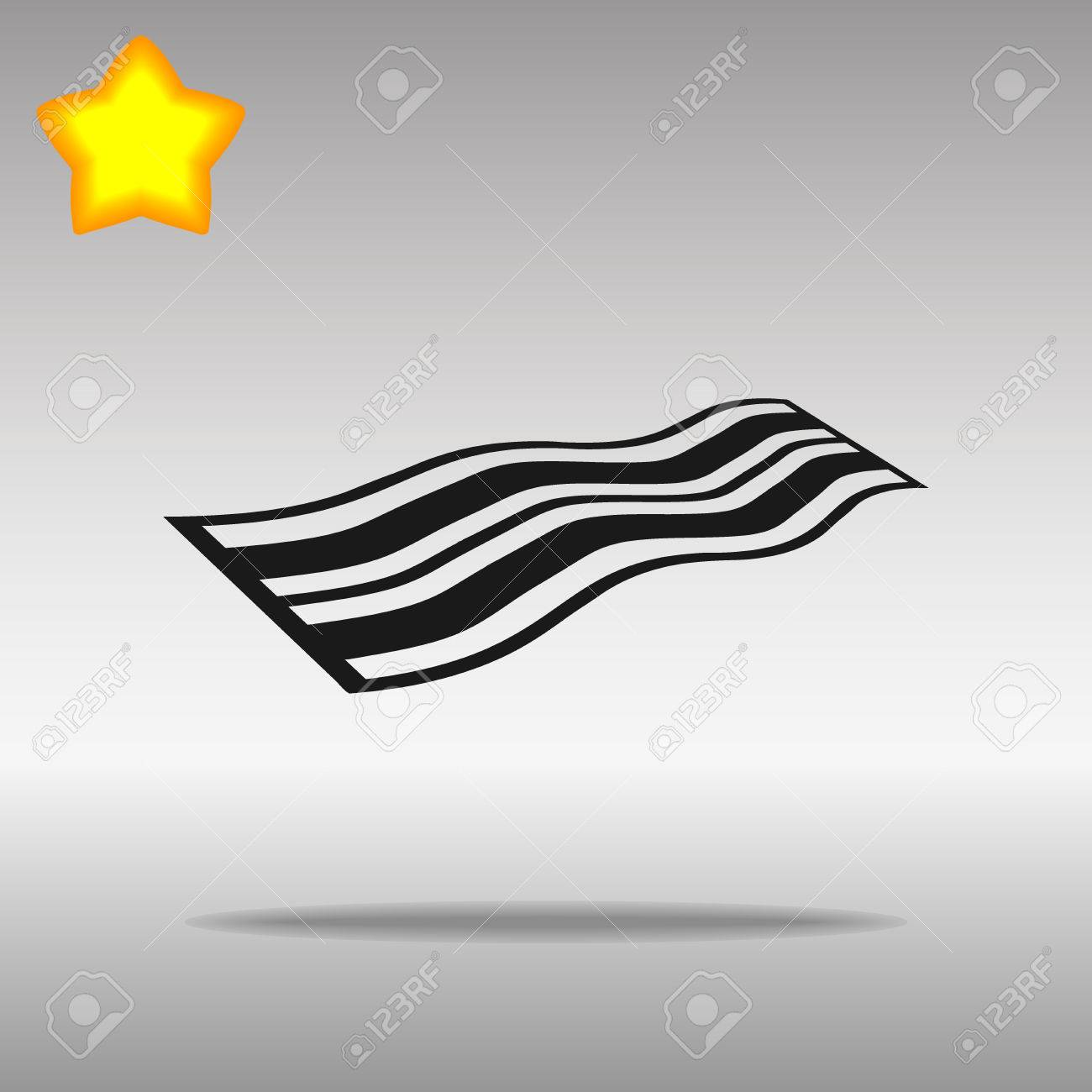 black Towel Icon button logo symbol concept high quality on the gray background - 82176423