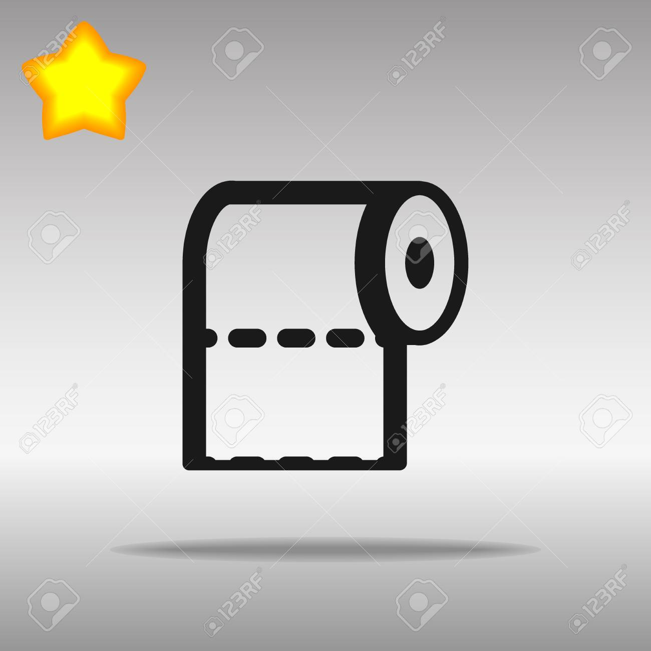 toilet paper black Icon button logo symbol concept high quality on the gray background - 82176428