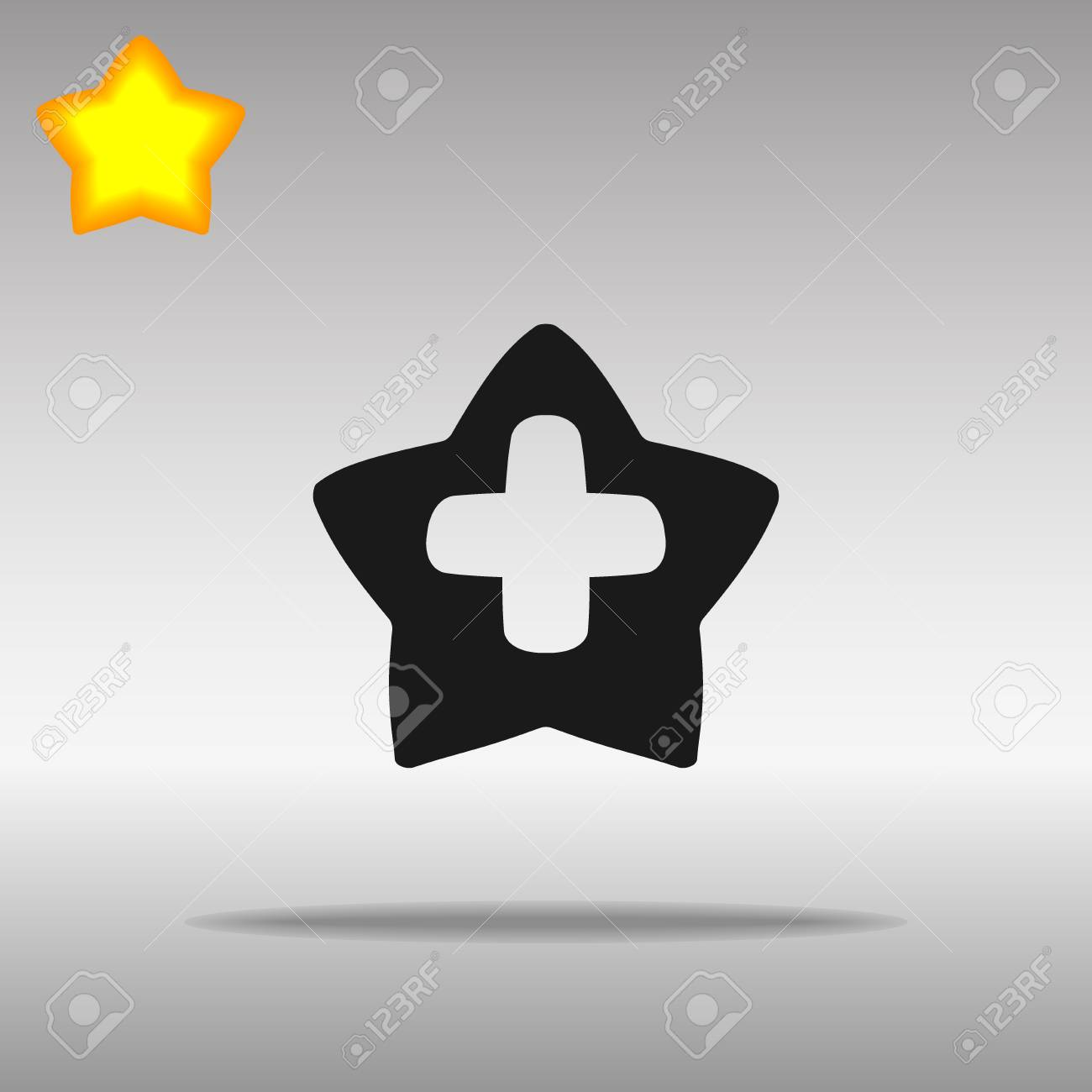 Star cross medicine black Icon button logo symbol concept high quality on the gray background - 82176449