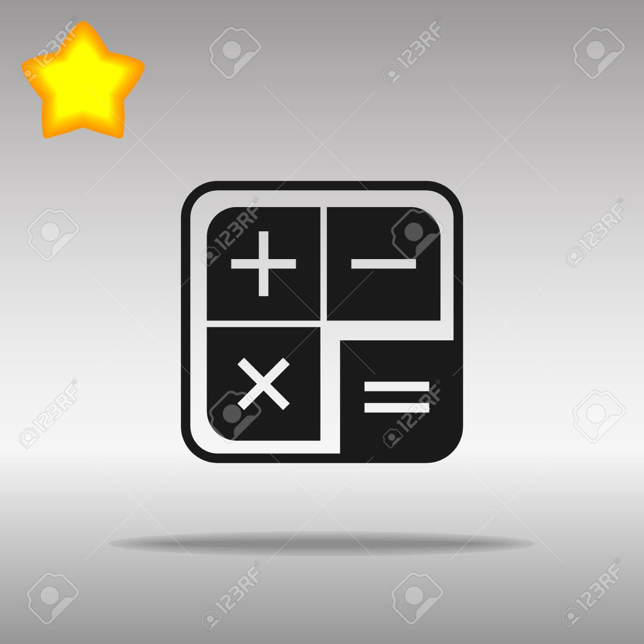 black calculator Icon button logo symbol concept high quality on the gray background - 82176455