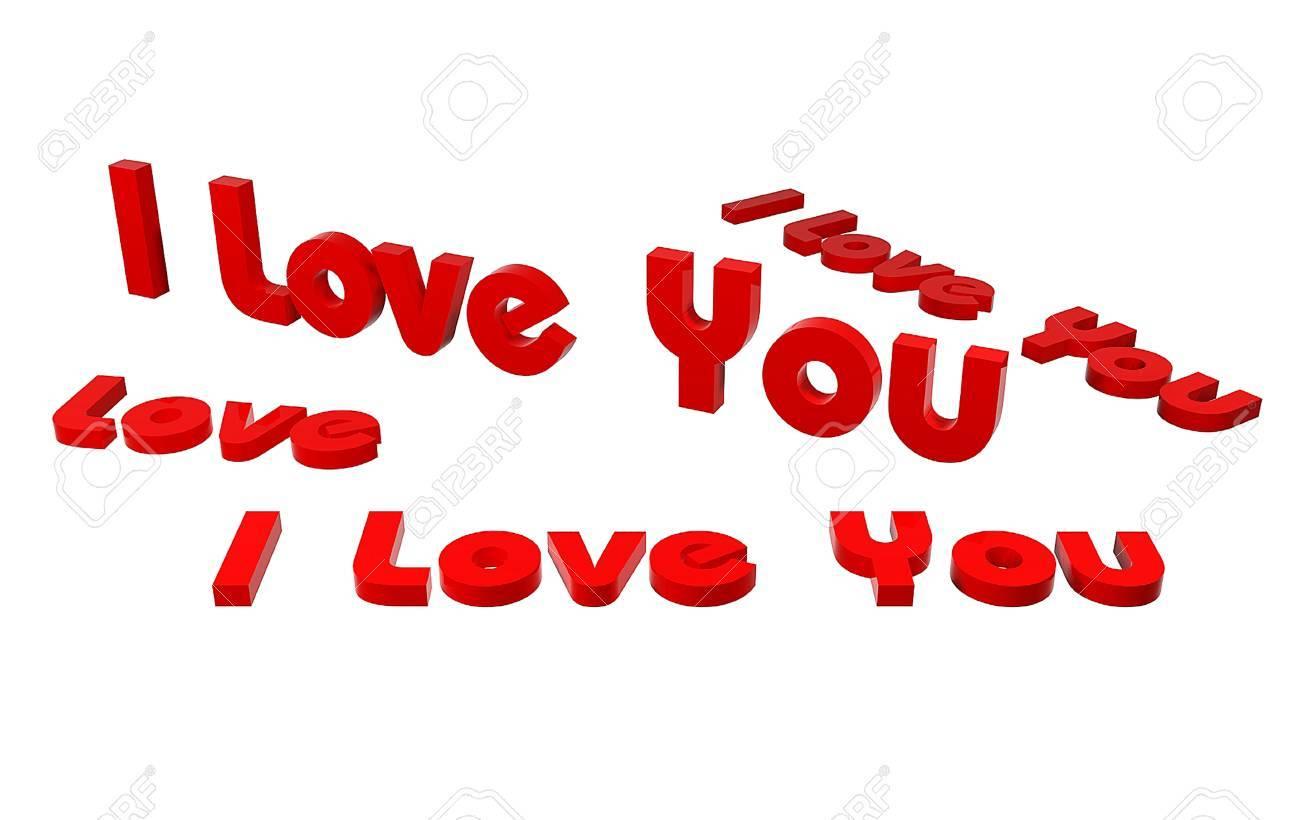 i love u Stock Photo - 63866694