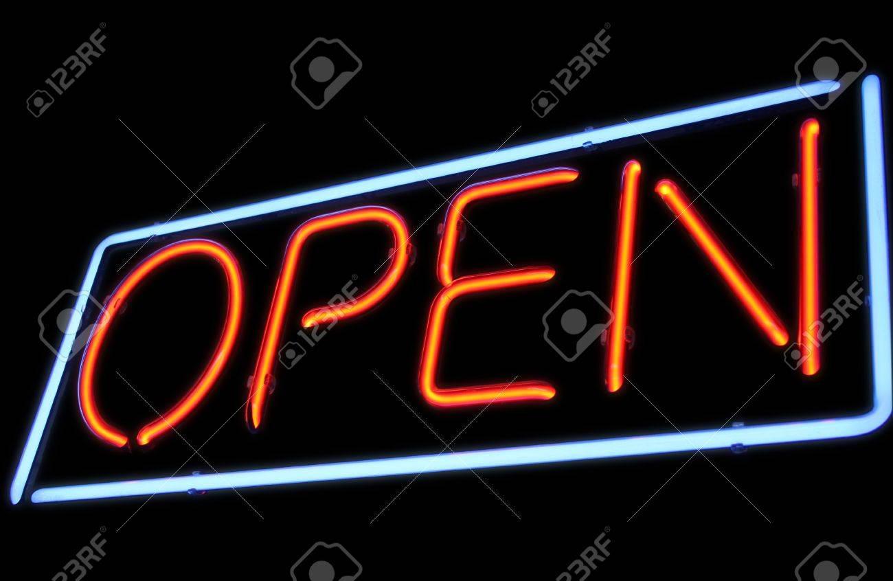 Open neon light sign - 10740847