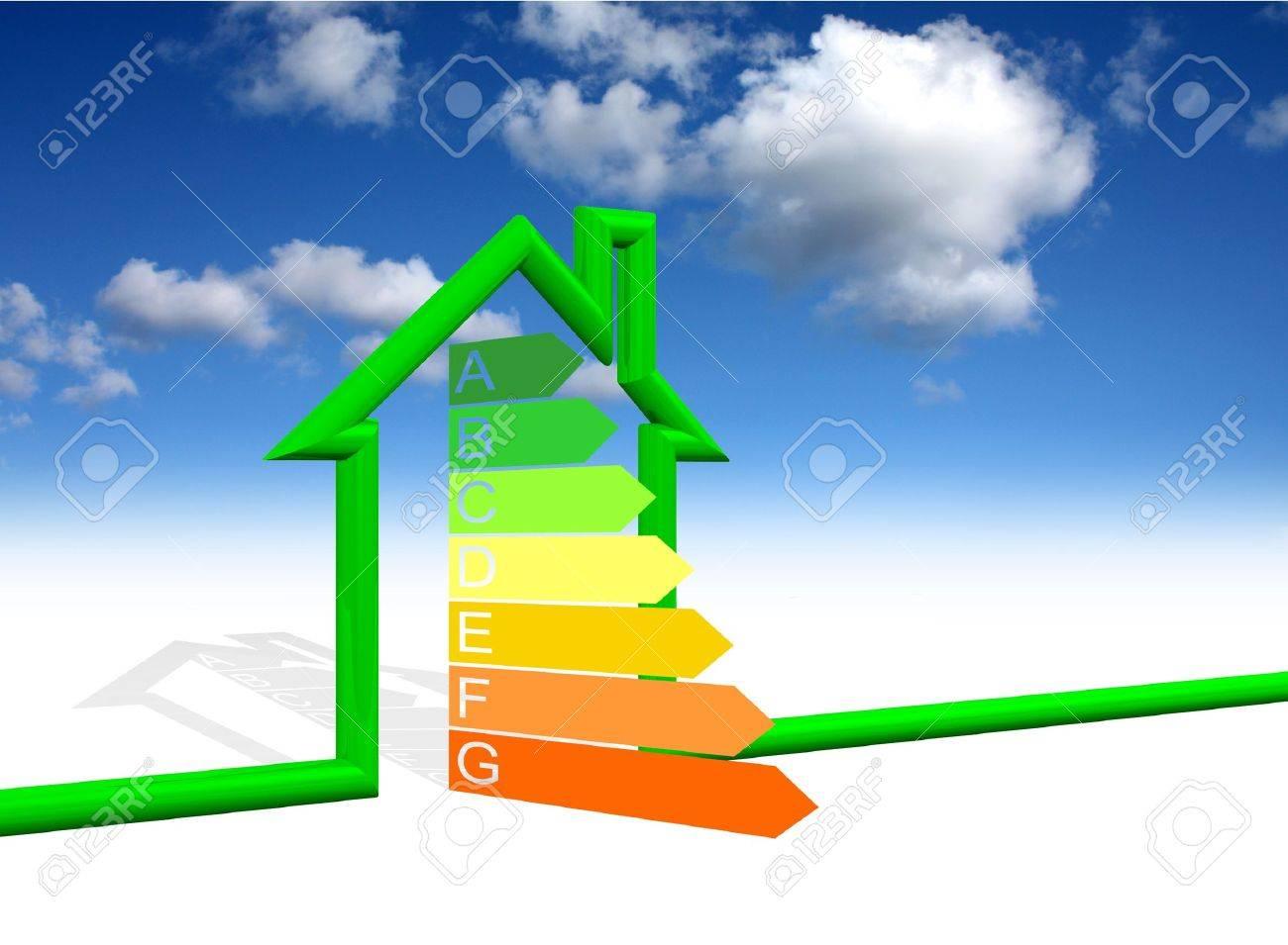 House Energy Efficiency Class Stock Photo   11528044