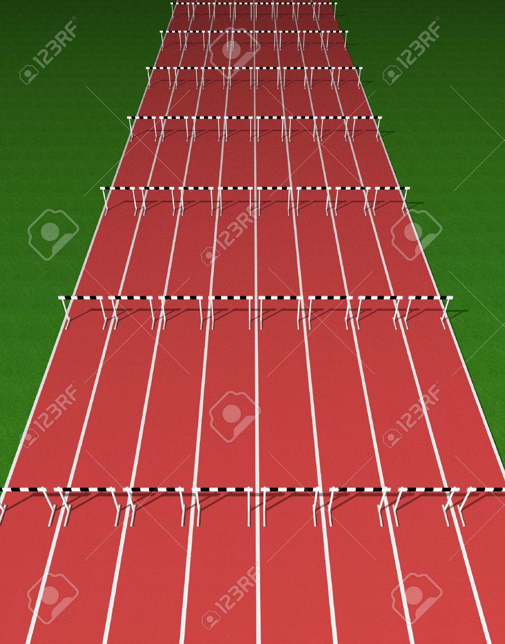 Hurdles track - 11528062