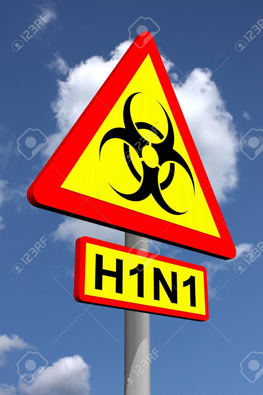 H1N1 traffic warning sign Stock Photo - 11697086