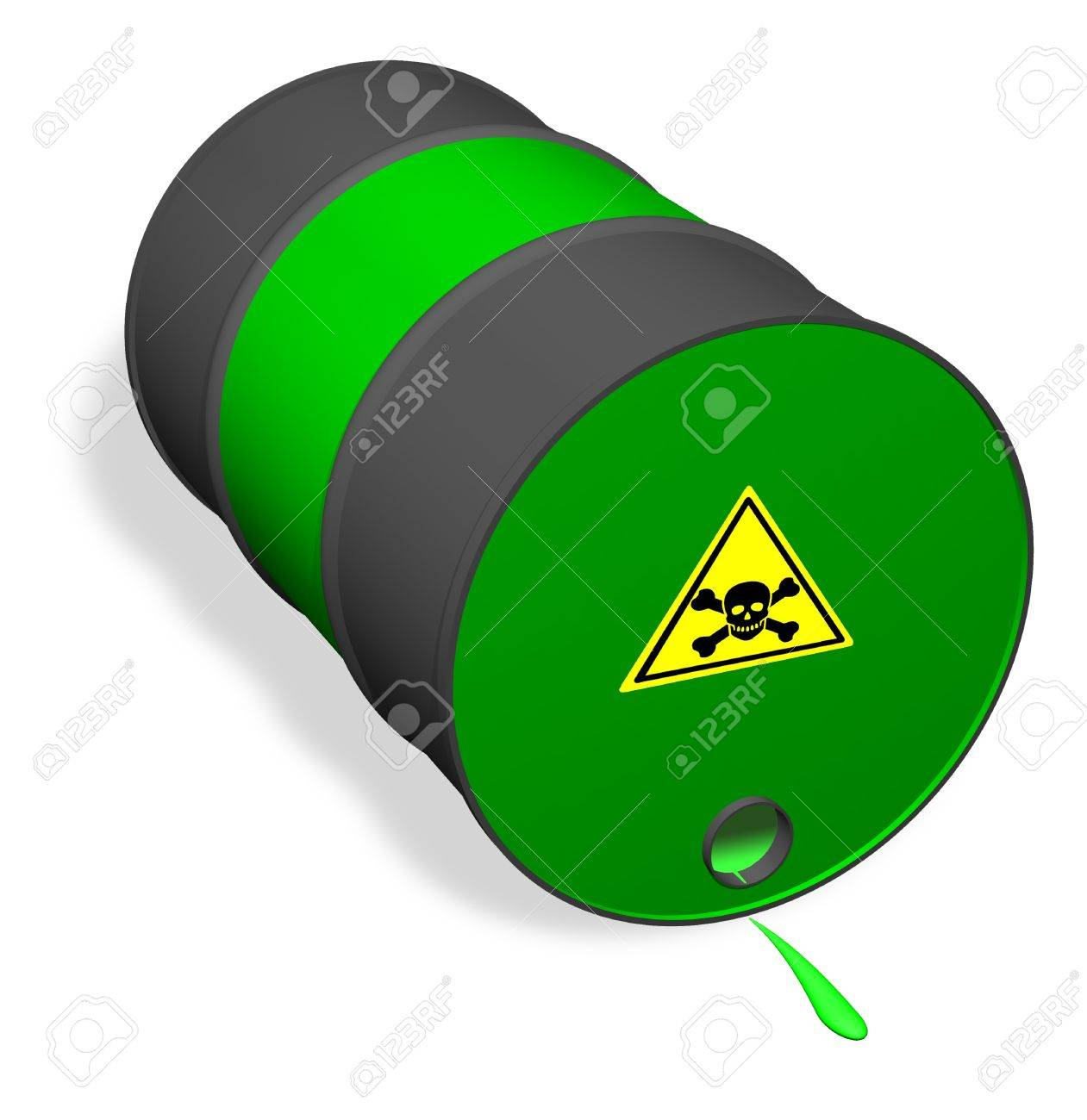 Overturned can of poisonous liquid - 11696975