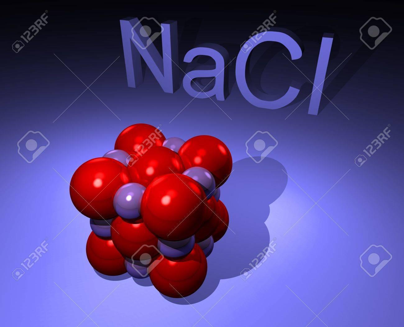 Ilustración de la molécula de sal de NaCl es decir Foto de archivo - 11697061