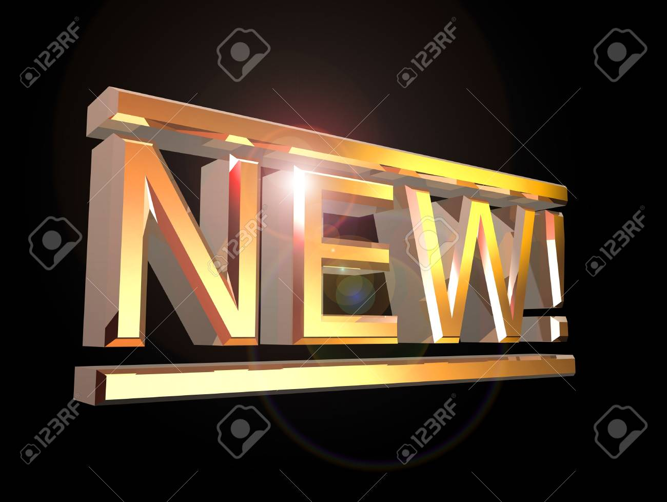 Big shiny letters forming word NEW! Stock Photo - 11696990