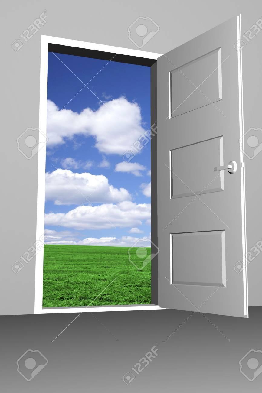 Door to bright new world - 11697167
