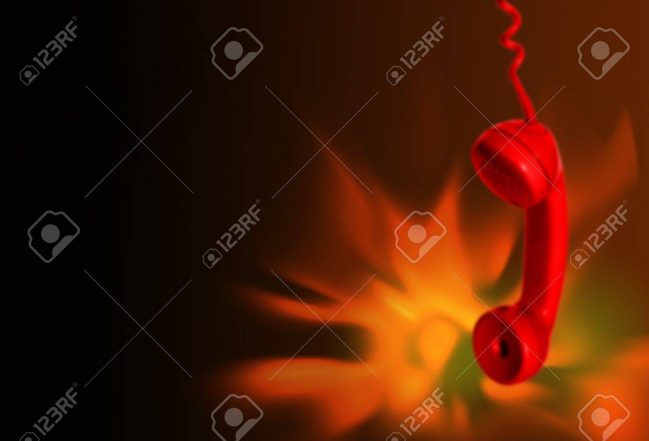 Fire emergency call background - 17099434