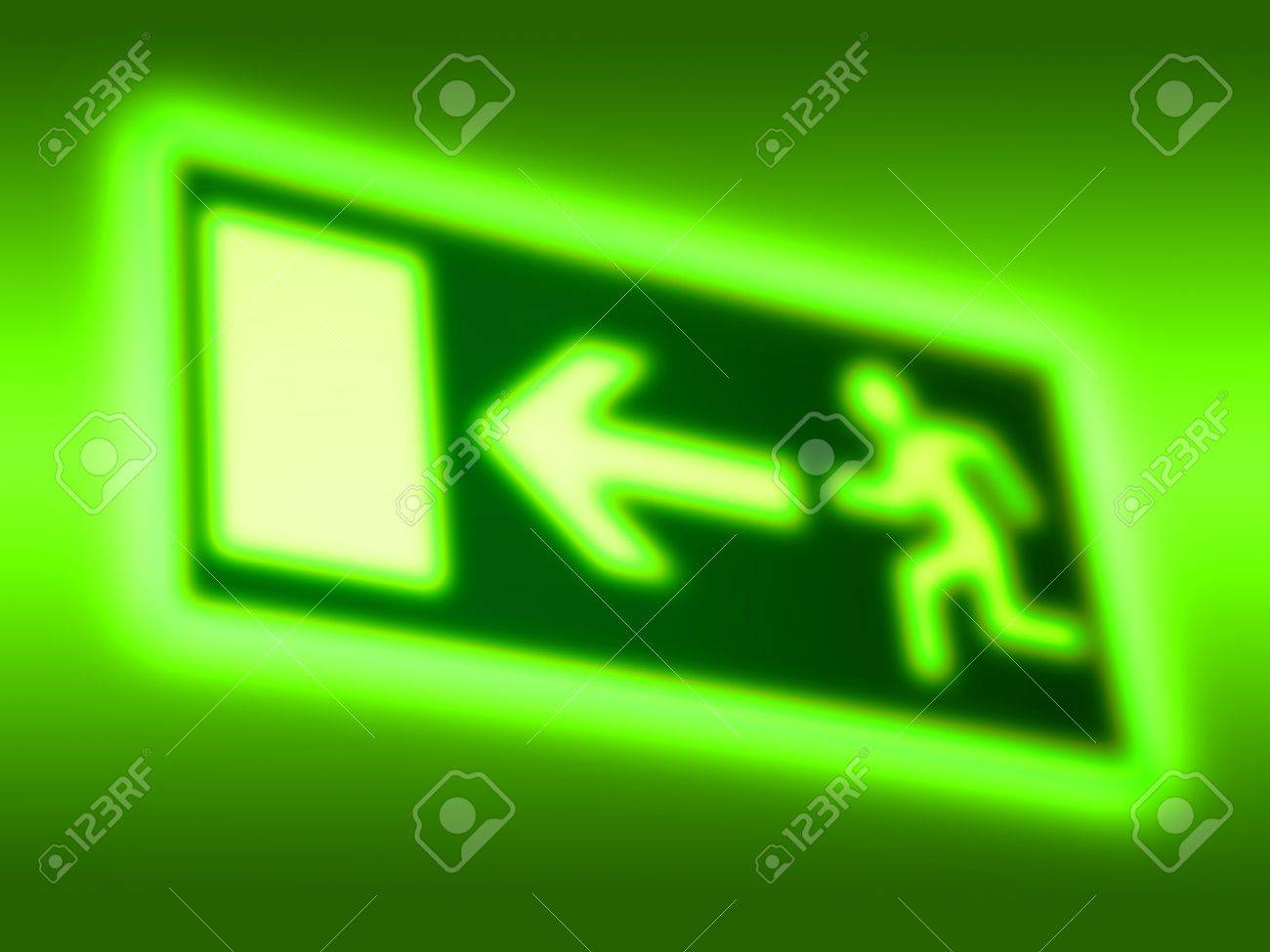 Emergency exit symbol background - 17099435