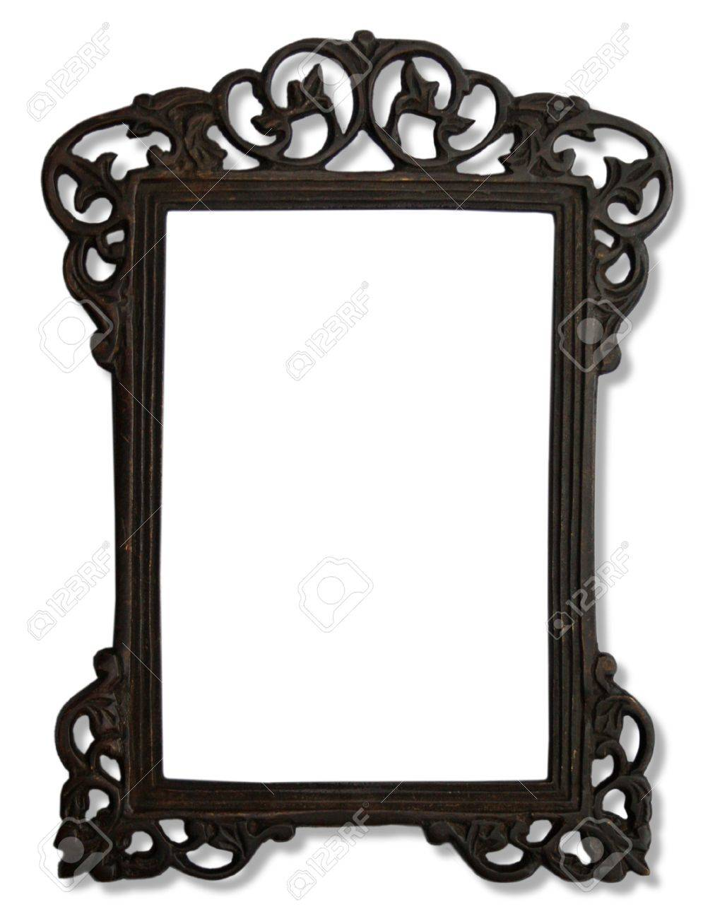 Vintage Metal Photo Frame Stock Photo, Picture And Royalty Free ...
