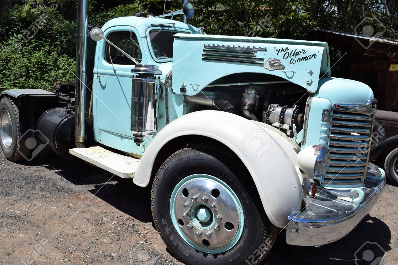 Old Restored International Truck Sits At Gold King Miine Ghost ...