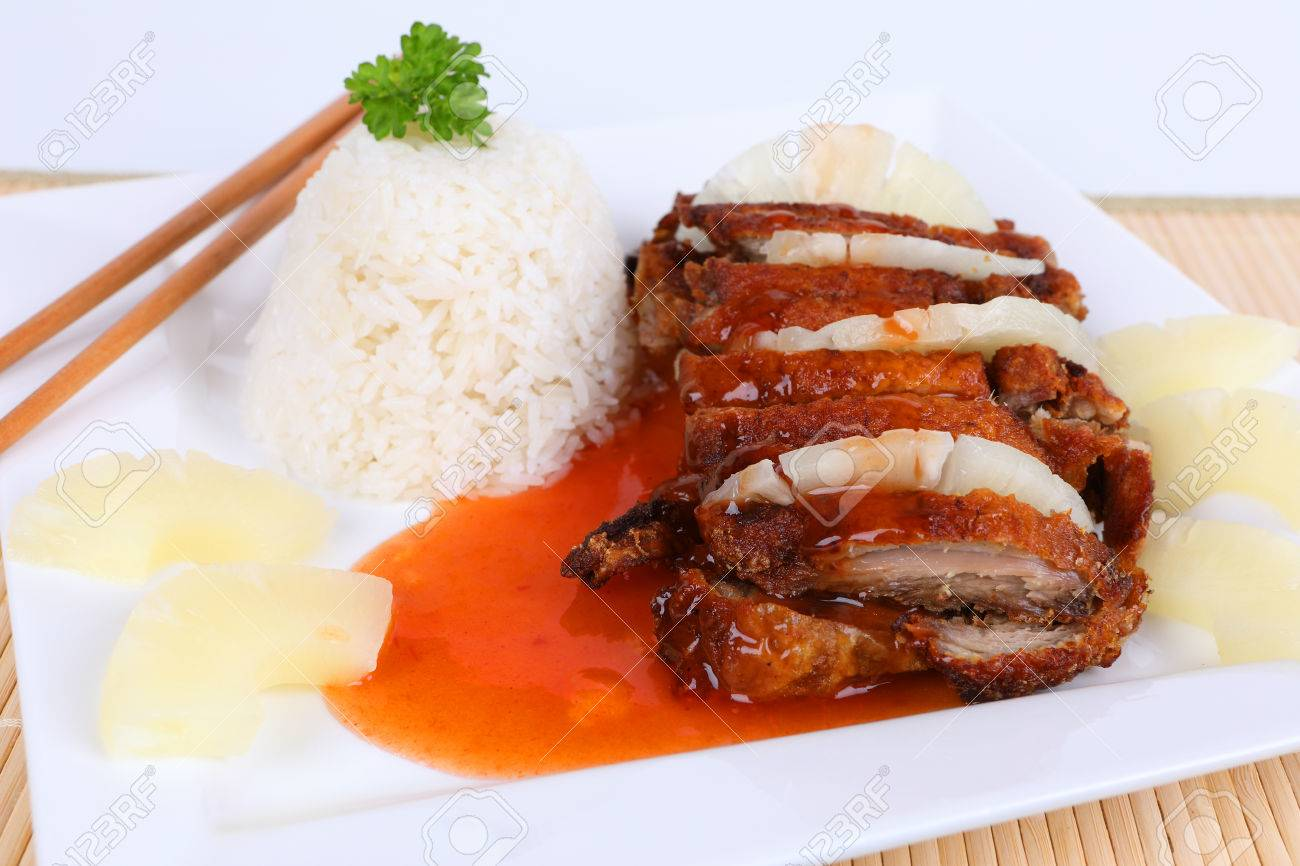 asian duck with sweet sour sauce - 70295155