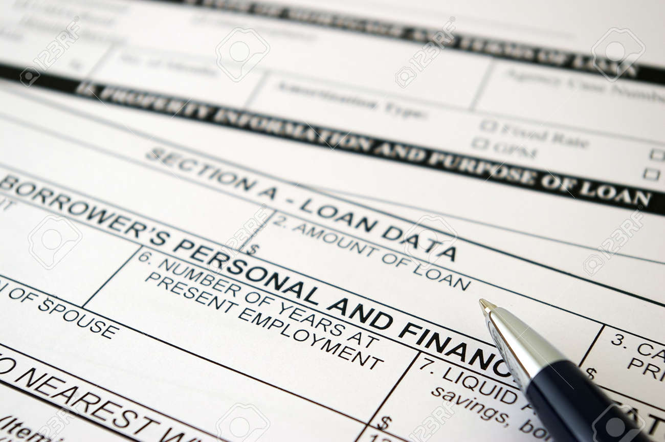 Loan Request Form Stock Photo   858485
