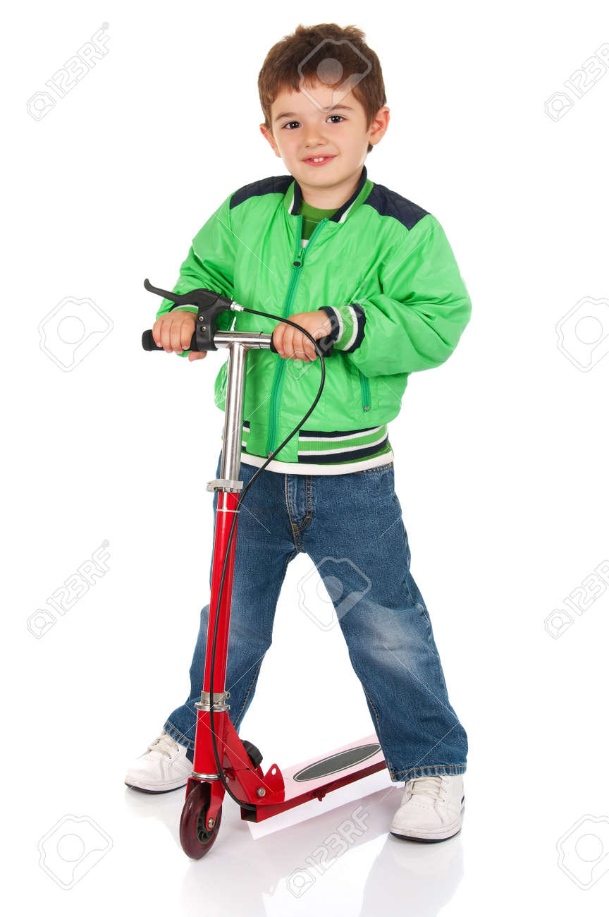 Little boy on the scooter Stock Photo - 7458313
