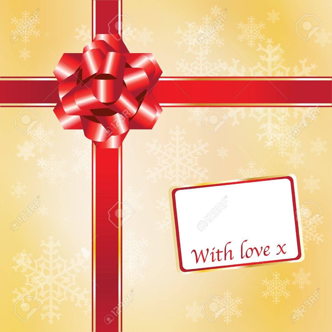 regalo de navidad con lazos rojos y arco con espacio para el texto formato vectorial
