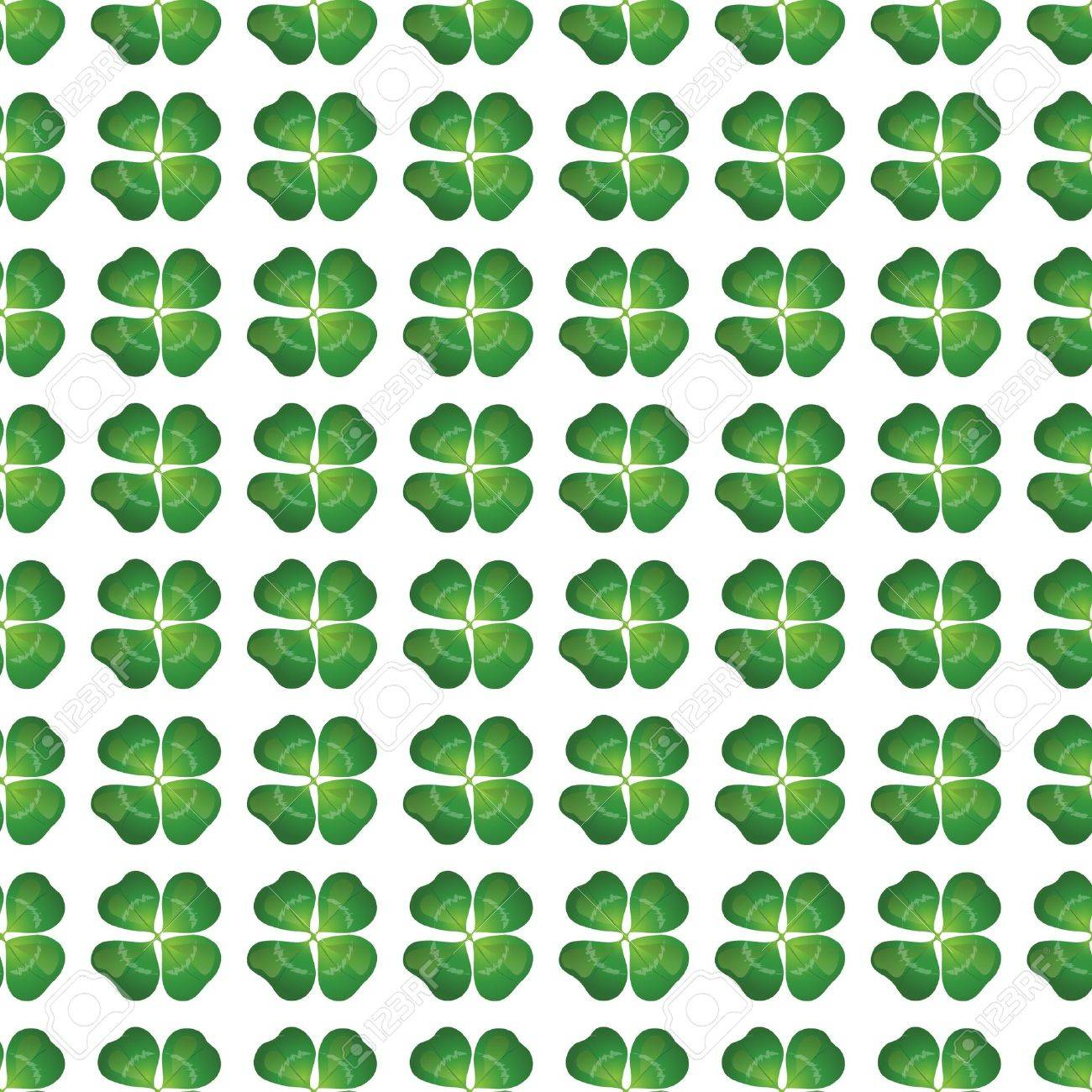 Four leaf clover seamless background. EPS10 vector format. Stock Vector - 10645685