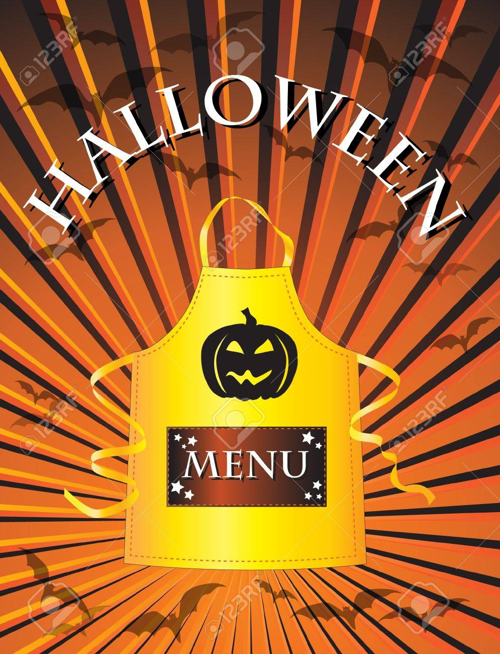 a menu template for a halloween menu royalty free cliparts vectors