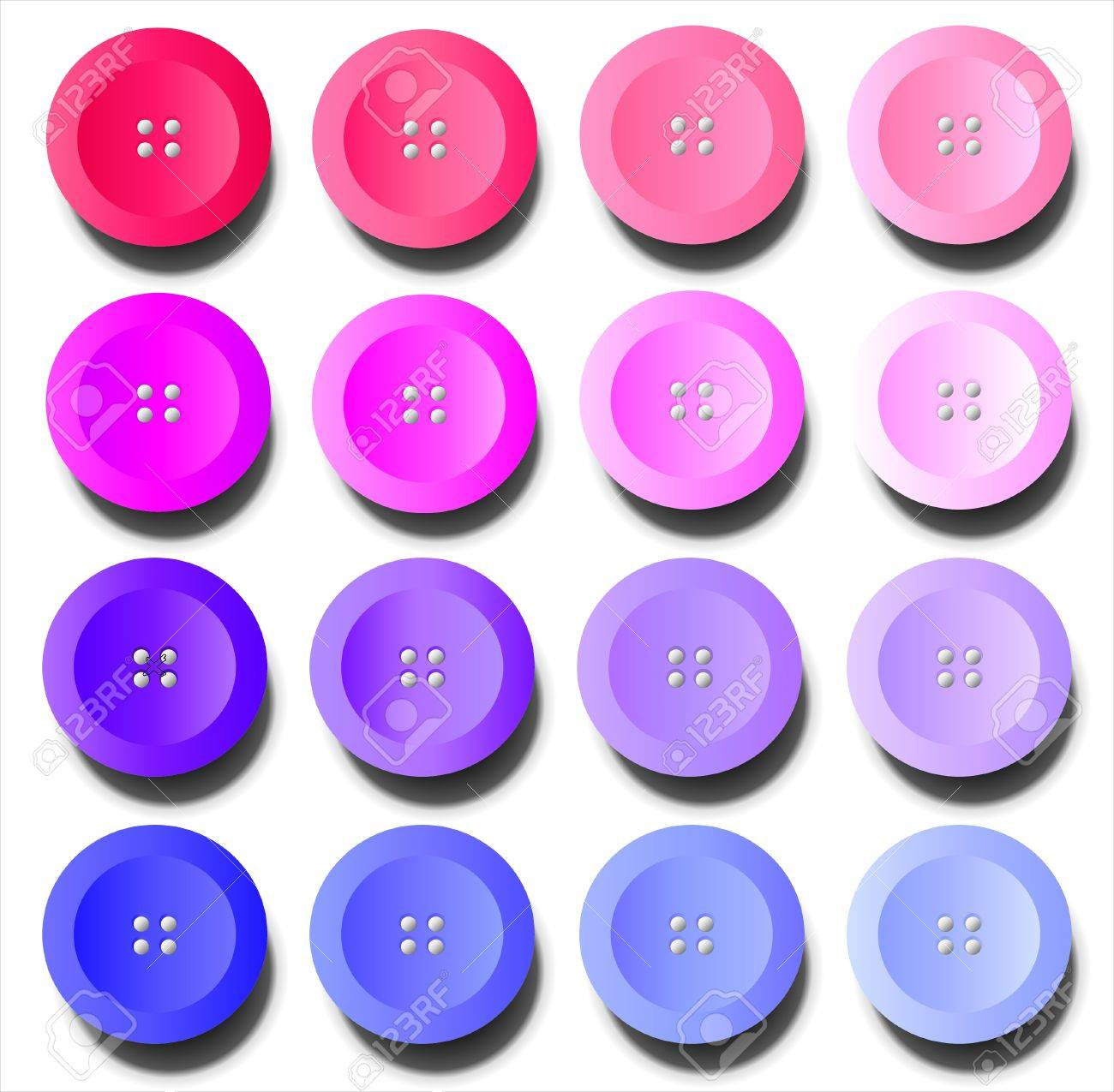 Purple Shades A Vector Illustration Of Buttons In Shades Of Pink And Purple