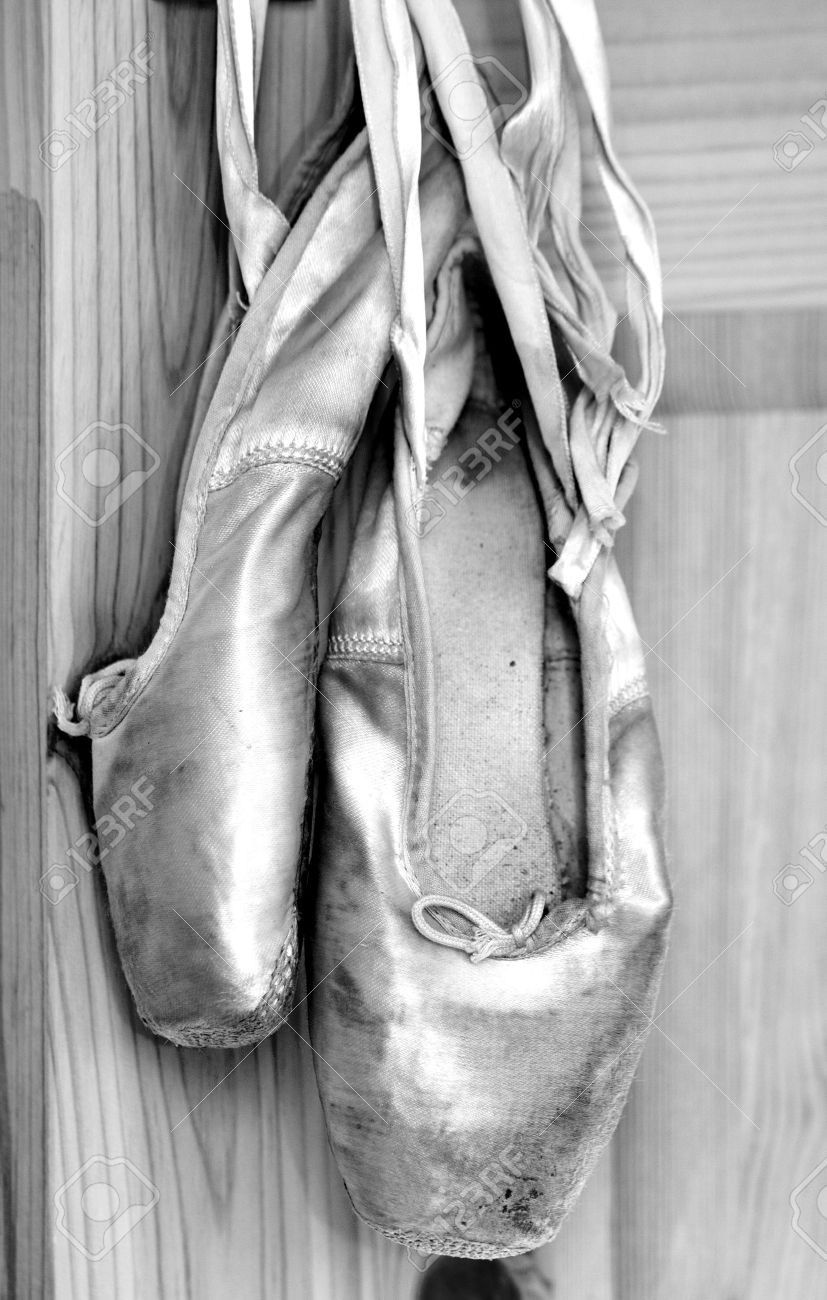 Old Ballet Shoes In Black White Stock Photo Picture And Royalty Free Image Image 10837795