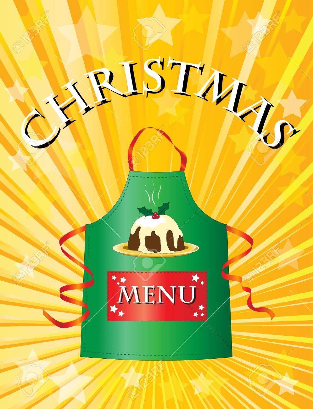 A menu template for a Christmas menu. Stock Vector - 11031806